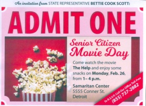 Senior Movie Night. Admit One.